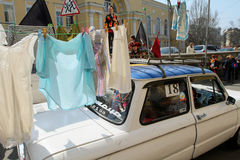 Giorno degli sciocchi di aprile in Ucraina. Fotografia Stock