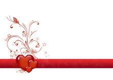 Giorno dei biglietti di S. Valentino del cuore Immagini Stock