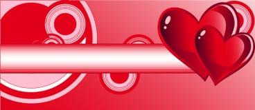 Giorno dei biglietti di S. Valentino della cartolina d'auguri Fotografie Stock Libere da Diritti
