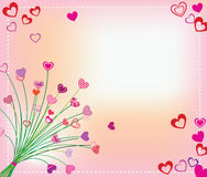 Giorno dei biglietti di S. Valentino della scheda Fotografie Stock Libere da Diritti