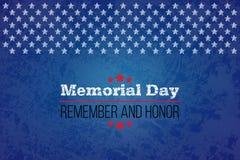 Giorno dei Caduti Ricordi e onori Llustration di vettore per la festa americana Progetti il modello per il manifesto, l'insegna,  illustrazione di stock