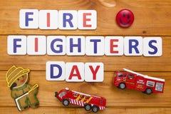 Giorno dei combattenti di fuoco illustrazione di stock