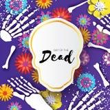 Giorno dei morti Struttura del cranio del taglio della carta per la celebrazione messicana Scheletro tradizionale del Messico Occ royalty illustrazione gratis
