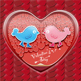 Giorno del biglietto di S. Valentino Fotografie Stock