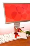 Giorno del biglietto di S. Valentino all'ufficio Fotografia Stock