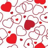 Giorno del biglietto di S. Valentino - cuori Immagini Stock