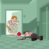 Giorno del biglietto di S. Valentino del marito ubriaco Fotografia Stock Libera da Diritti
