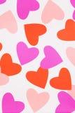 Giorno del biglietto di S. Valentino della priorità bassa dei cuori Fotografie Stock Libere da Diritti