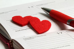 Giorno del biglietto di S. Valentino della st Fotografia Stock