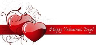 Giorno del biglietto di S. Valentino felice! Immagine Stock