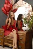 Giorno del biglietto di S. Valentino felice! Fotografia Stock Libera da Diritti