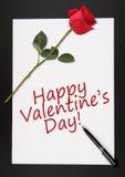 Giorno del biglietto di S. Valentino felice Fotografia Stock