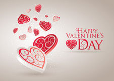 Giorno del biglietto di S. Valentino felice Immagini Stock Libere da Diritti