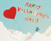 Giorno del biglietto di S. Valentino felice Fotografia Stock Libera da Diritti