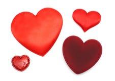 Giorno del biglietto di S. Valentino - quattro cuori differenti Fotografia Stock Libera da Diritti