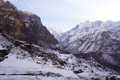 Giorno del campo base di Annapurna chiaro Immagine Stock Libera da Diritti
