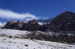 Giorno del campo base di Annapurna chiaro Fotografie Stock