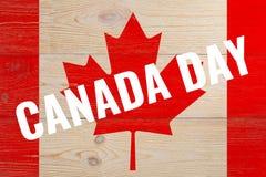 Giorno del Canada sulla bandiera dipinta Fotografia Stock Libera da Diritti