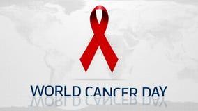 Giorno del cancro del mondo video d archivio