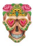 Giorno del cranio di Art Sugar dei morti Fotografia Stock