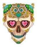 Giorno del cranio di Art Sugar dei morti Immagini Stock