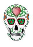 Giorno del cranio di Art Sugar dei morti illustrazione di stock