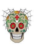 Giorno del cranio di Art Sugar dei morti illustrazione vettoriale