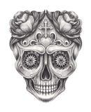 Giorno del cranio di Art Sugar dei morti royalty illustrazione gratis