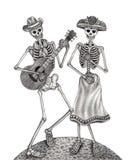 Giorno del cranio di arte dei morti royalty illustrazione gratis