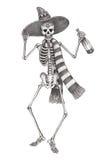 Giorno del cranio di arte dei morti Fotografia Stock