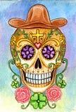 Giorno del cranio di arte del festival morto Immagini Stock Libere da Diritti