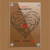 Giorno del cuore del bordo di informazioni royalty illustrazione gratis