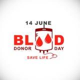 Giorno del donatore di sangue del mondo 14 giugno illustrazione vettoriale