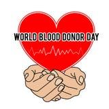 Giorno del donatore di sangue del mondo Illustrazione di vettore per la festa 14 giugno Fotografia Stock