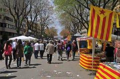 Giorno del George del san a Tarragona, Spagna Fotografie Stock Libere da Diritti