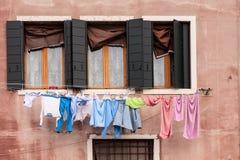 Giorno del lavaggio su Burano Fotografie Stock