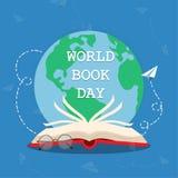 Giorno 02 del libro del mondo royalty illustrazione gratis