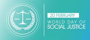 Giorno del mondo di giustizia sociale Background illustrazione vettoriale