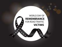 Giorno del mondo del ricordo per le vittime di traffico stradale illustrazione di stock