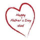 Giorno del padre felice Fotografie Stock