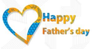 Festa del papà felice Immagini Stock Libere da Diritti