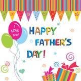 Giorno del padre felice illustrazione di stock