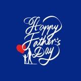 Giorno del padre felice Immagine Stock Libera da Diritti