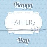 Giorno del padre felice Vector la carta con i vetri di vino sul modello senza cuciture del gallone Fotografia Stock Libera da Diritti