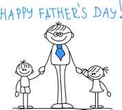 Giorno del padre felice, vettore Fotografia Stock