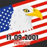 Giorno del patriota del fondo degli S.U.A., stile piano illustrazione vettoriale