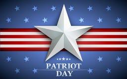 Giorno del patriota Progetti per la cartolina, l'aletta di filatoio, il manifesto, insegna l'undicesimo settembre Non dimenticher royalty illustrazione gratis
