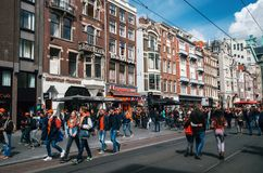 Giorno del re, Amsterdam Immagini Stock Libere da Diritti