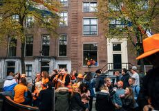 Giorno del re, Amsterdam Fotografia Stock