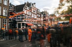 Giorno del re, Amsterdam Fotografia Stock Libera da Diritti